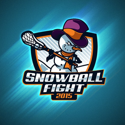 Logo for Kinkaid Snowball Fight Tournament