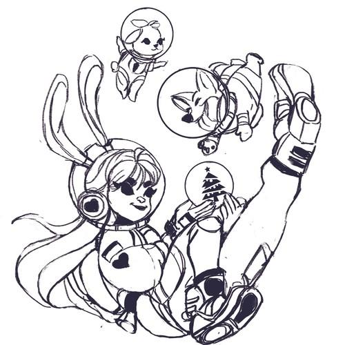 inking sketch
