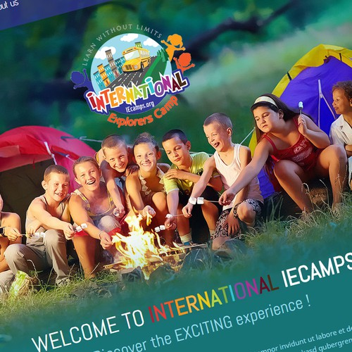Website only (no logo needed) for local summer camp business.