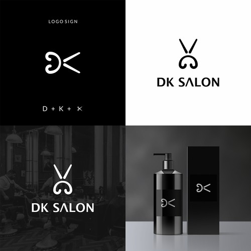 Logo Concept for DK Salon