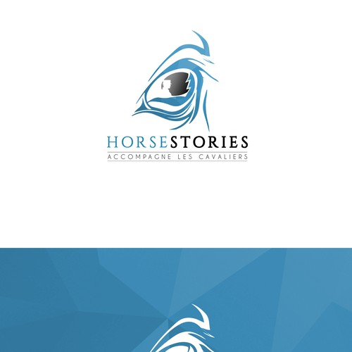 Logo concept for horse riding and materials club