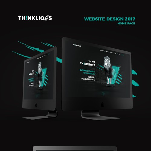 Thinklions home page concept