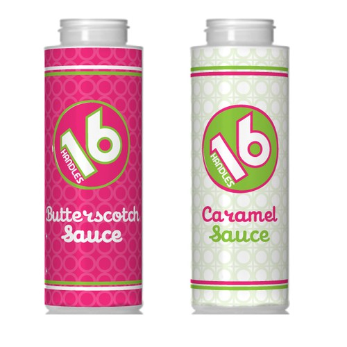 Label for Caramel and Butterscotch bottles.