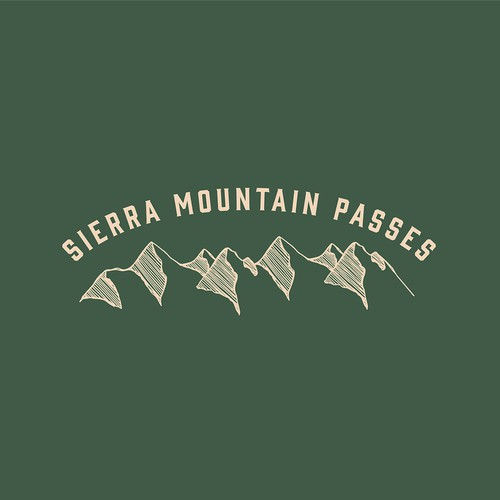 Rustic logo concept for outdoor travel company