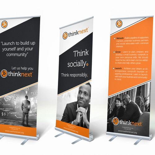 Think next rollup banner