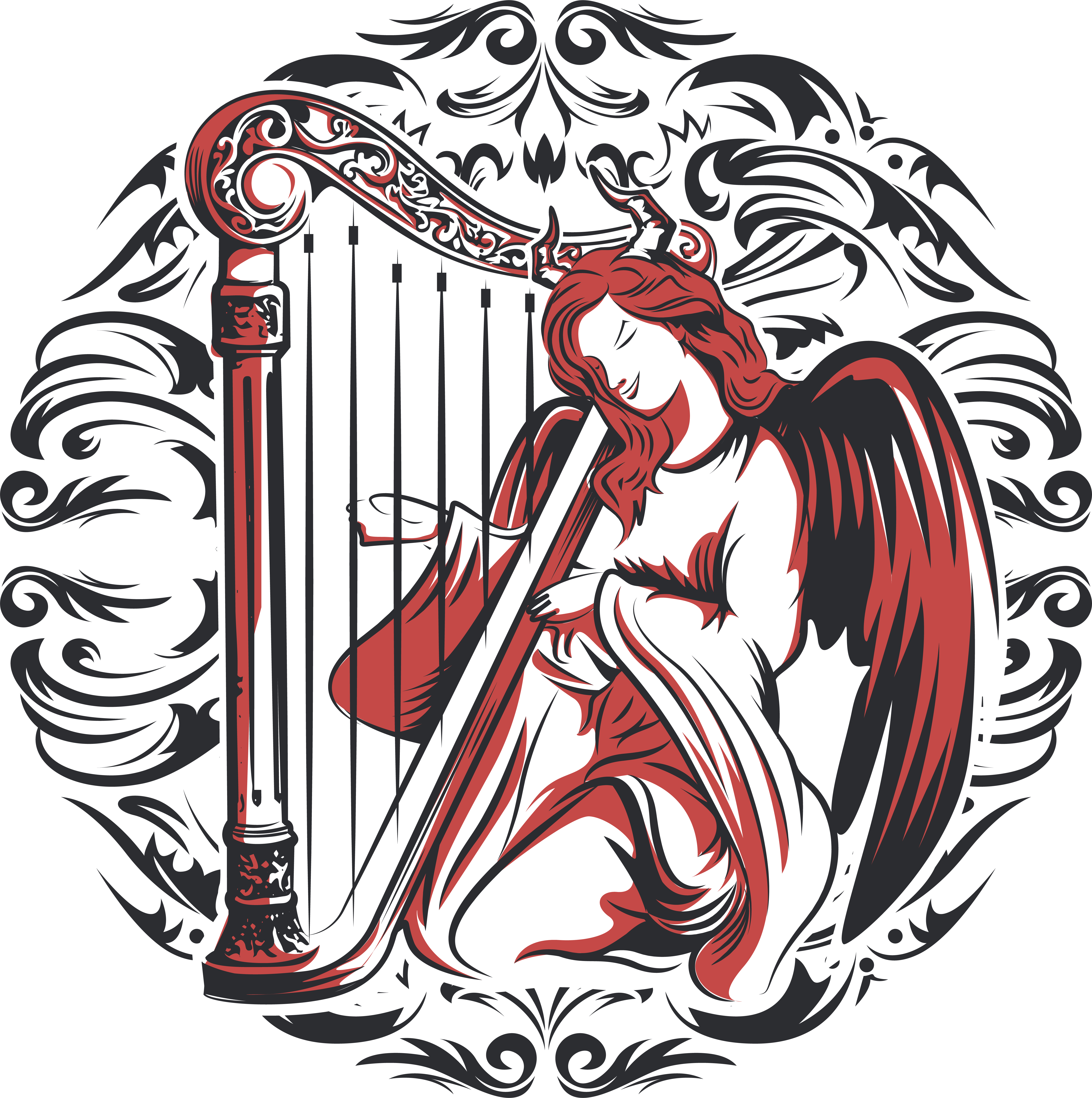 Design a Catholic art themed streetwear logo