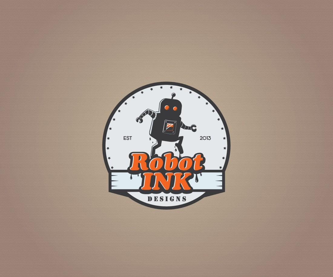 Create the next kick ass logo for robot ink designs