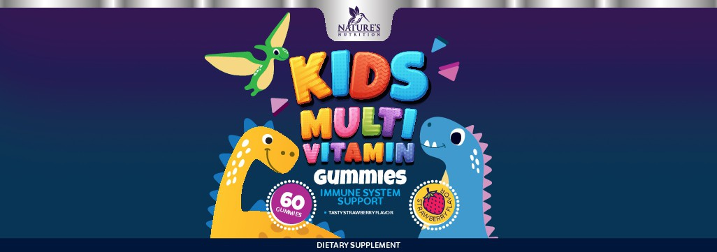Tasty Kids Multivitamin Gummies Product Label for Nature's Nutrition