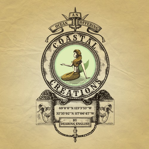 Elegant, Classic and Victorian Ocean Logo