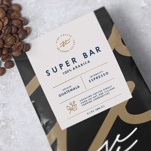 Coffee Packaging design with a sticker