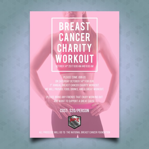 Breast Cancer Charity Workout Flyer