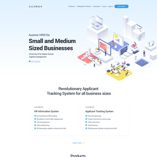 Auzmor website design