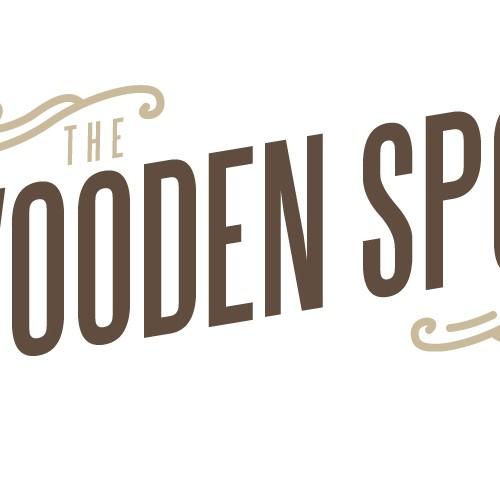 Design the logo for The Wooden Spoon - a rustic deli