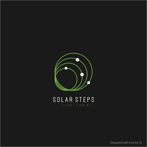 Clean logo concept for Solar Steps.