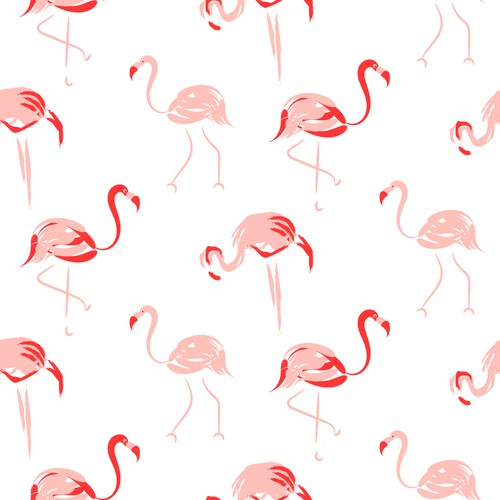 Flamingo pattern for clothing company