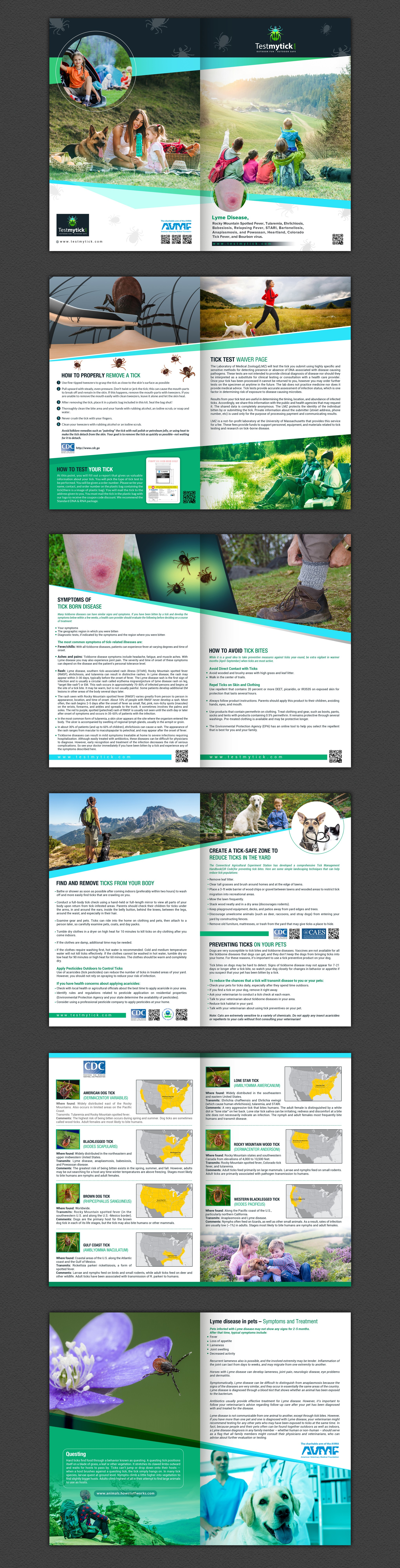 We need your design skills for a educational booklet about tick disease and testing