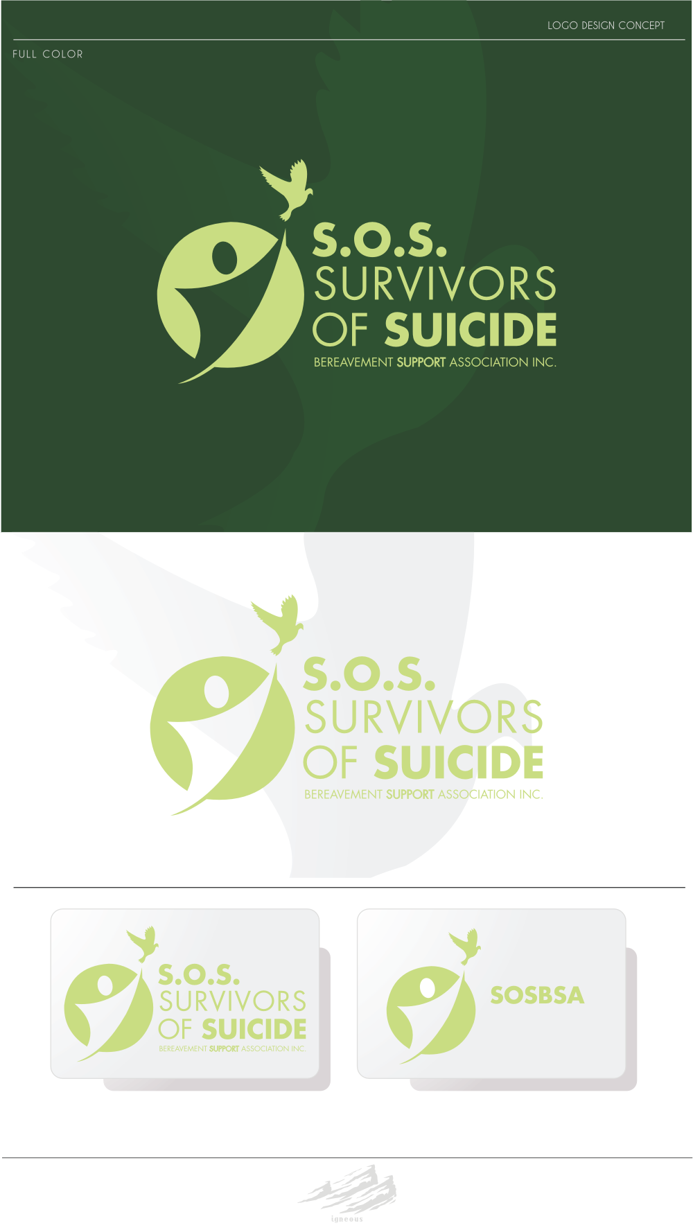 S.O.S. Survivors of Suicide Bereavement Support Association Inc. (SOSBSA) needs a new logo