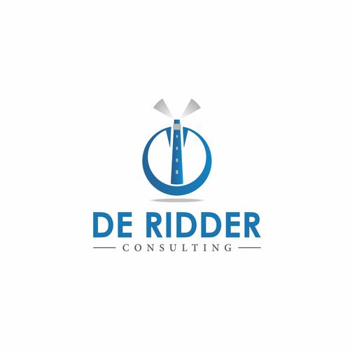 Bold logo concept for De Ridder Consulting