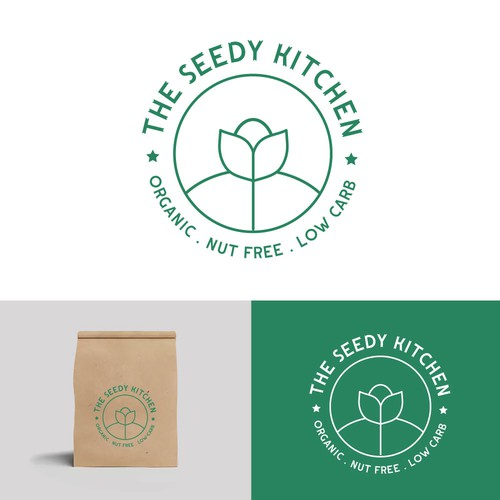 Logo design for seed based snacks company.