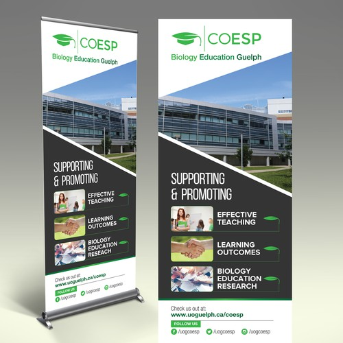 Design a Pull-up Banner for a Biology Education Office