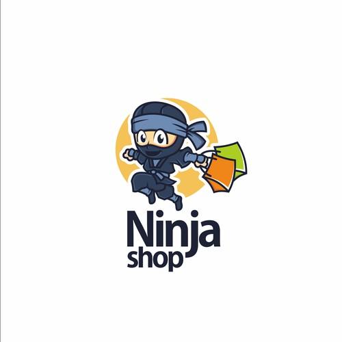 ninja shop caracter logo