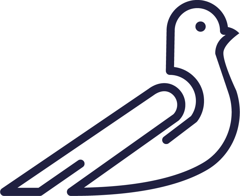Design a logo incorporating a pigeon for our startup studio