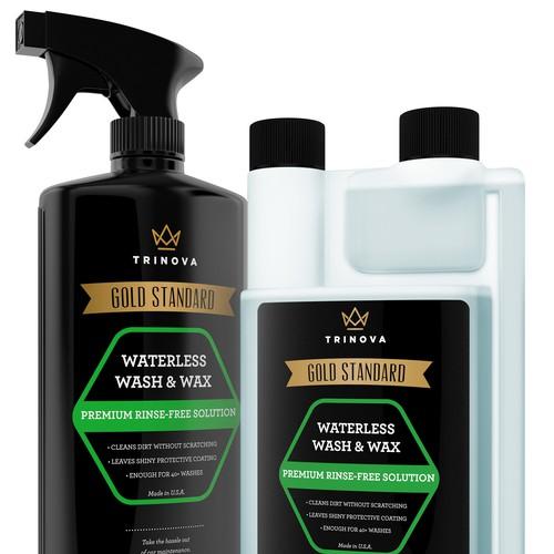 Waterless Wash & Wax 3D Rendering