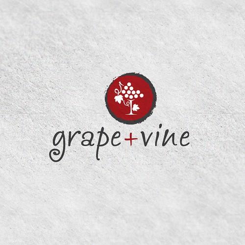 Grape + Vine Logo Design