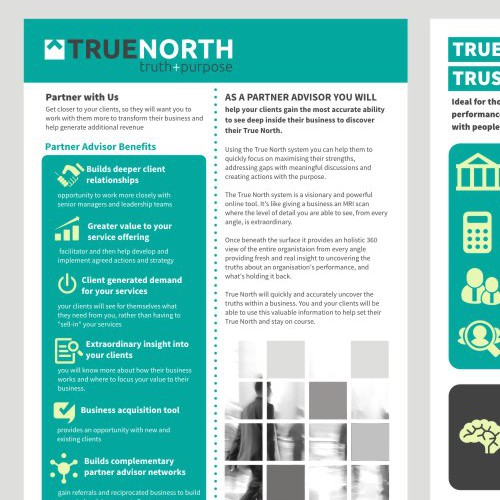 Create a Flyer for True North