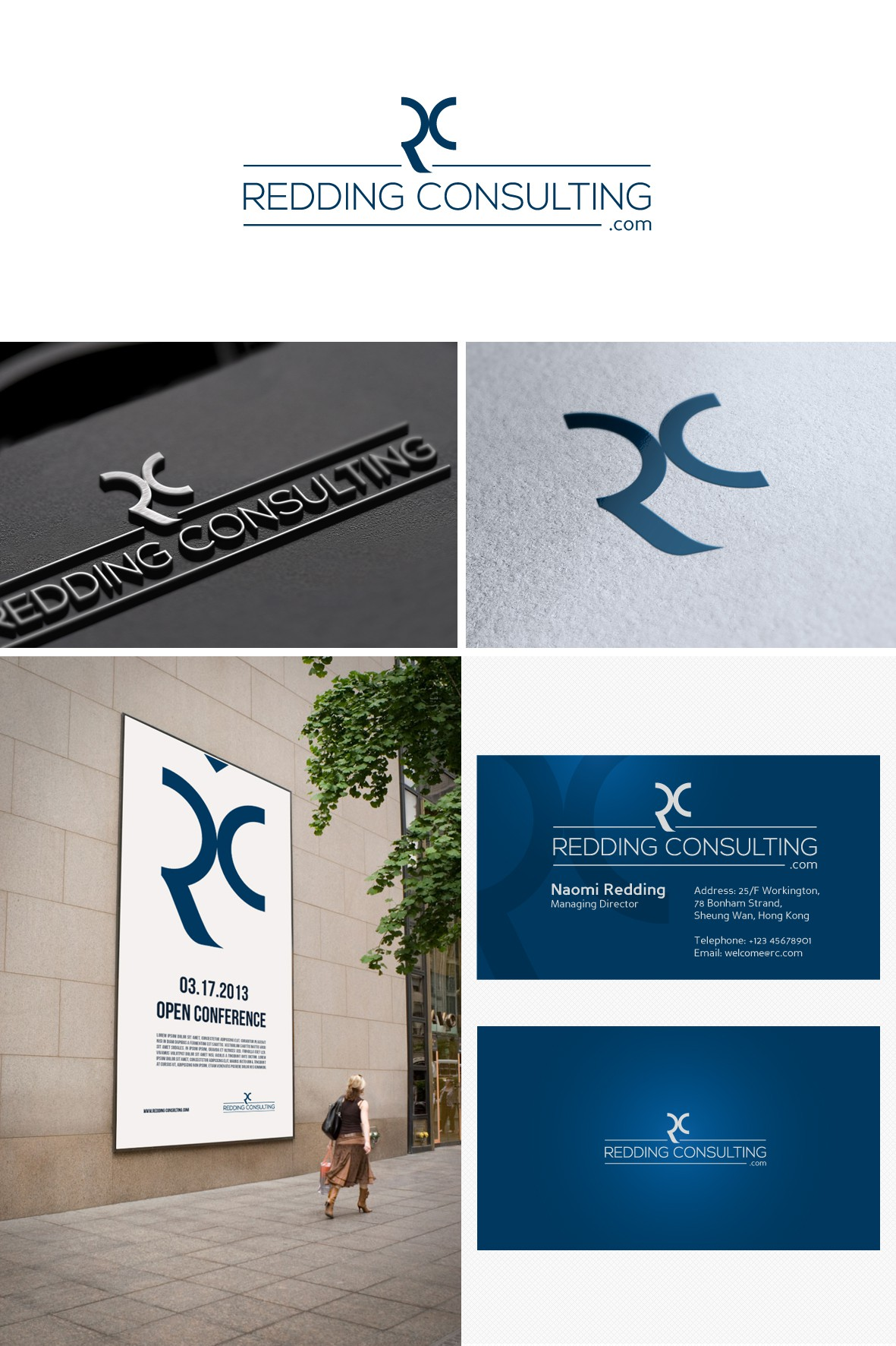 New logo and business card wanted for Redding Consulting