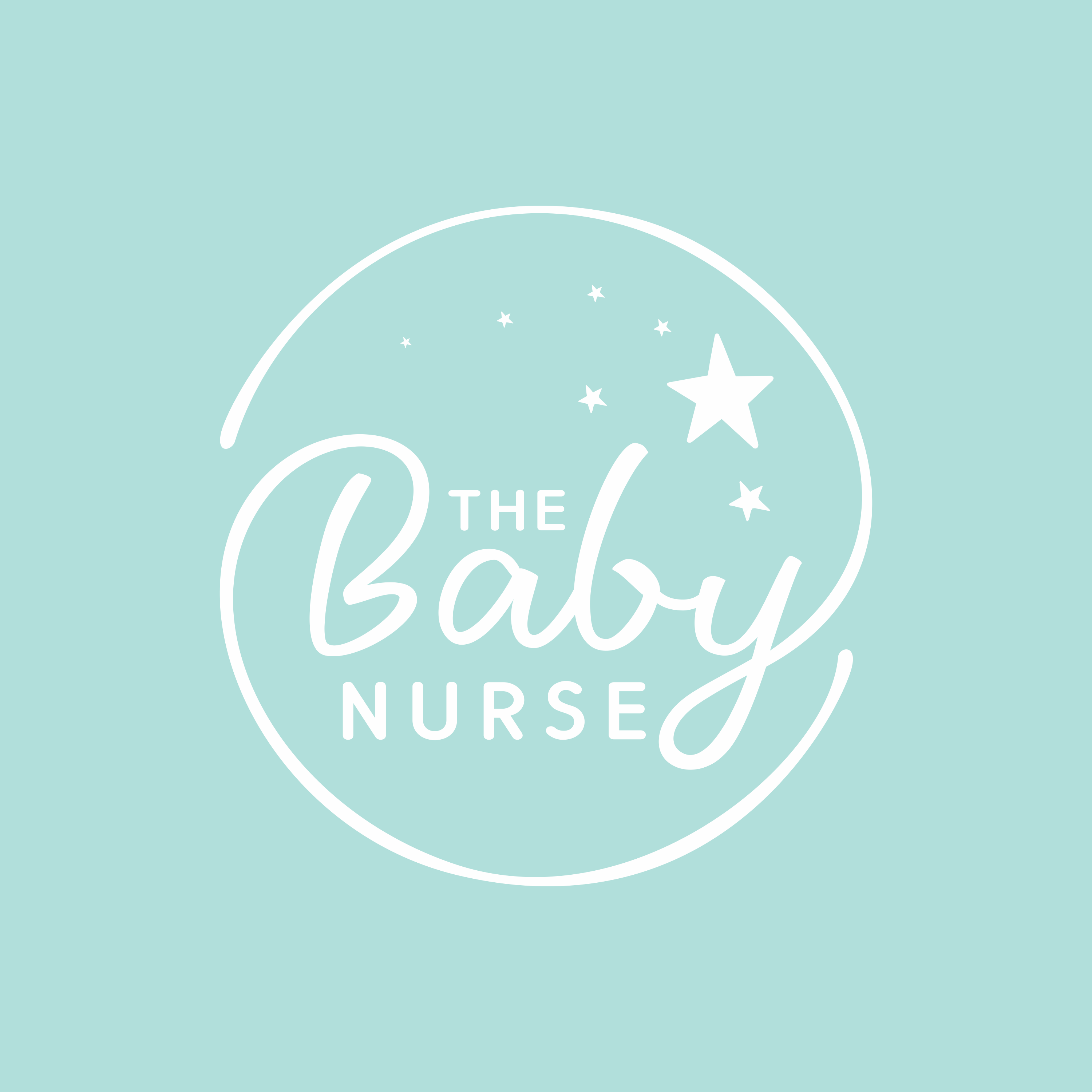 Design a comforting logo for a private newborn nurse helping moms thrive instead of survive