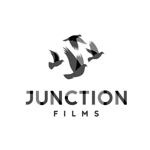 Abstract Bird Logo Concept for JUNCTION FILM