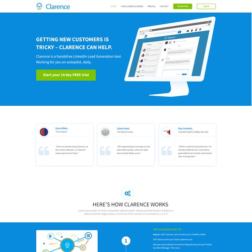 New SAAS business web design