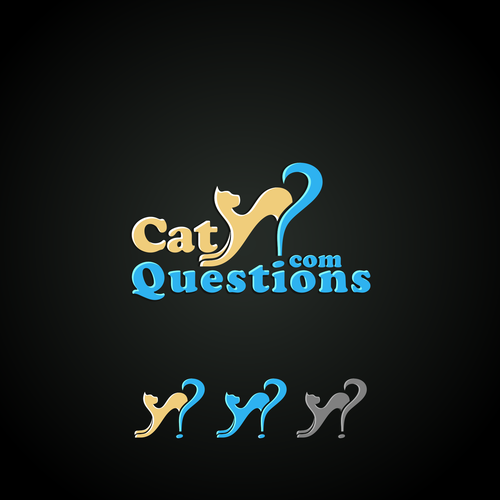 Bold logo concept for cat question