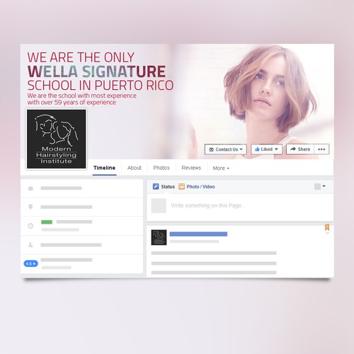 Beauty School Facebook Cover page