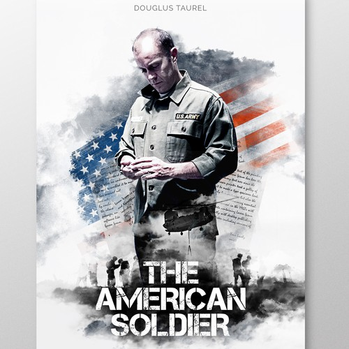 Create a powerful image a theater play about American Soldiers