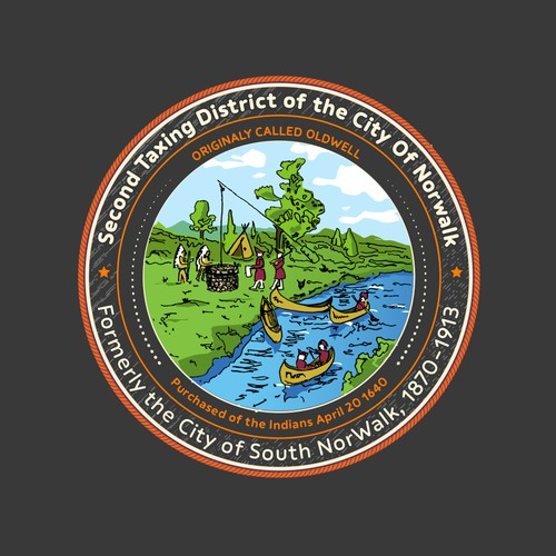 Redrawing of the seal  for Second District-Norwalk City