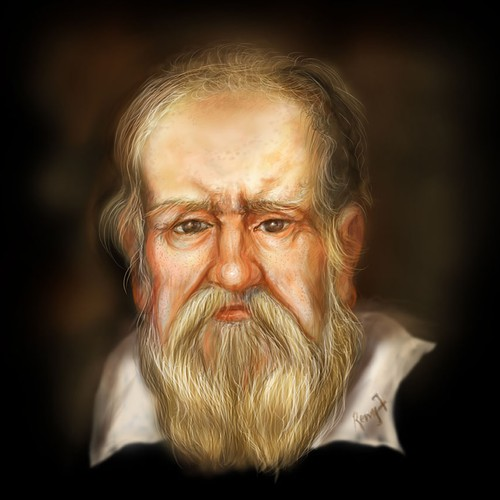 My Artist impression of Galileo Galilei