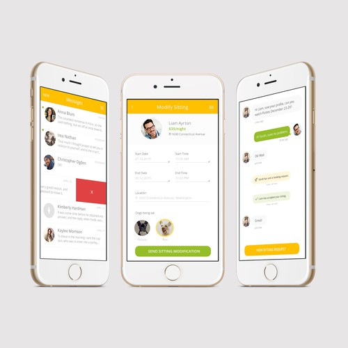 Bark'N'Borrow's dog-sitting app design