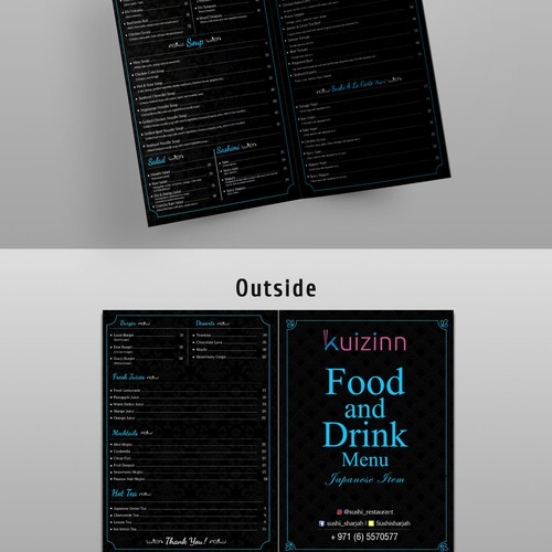 Menu card design ( final round)