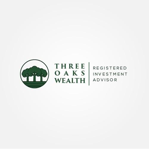Design logo for three oaks wealth