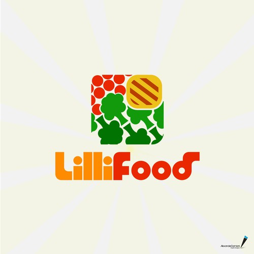 LilliFood logo design