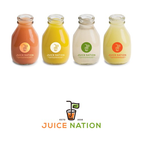 Logo proposal for a Juice Nation - a nation of health enthusiasts.