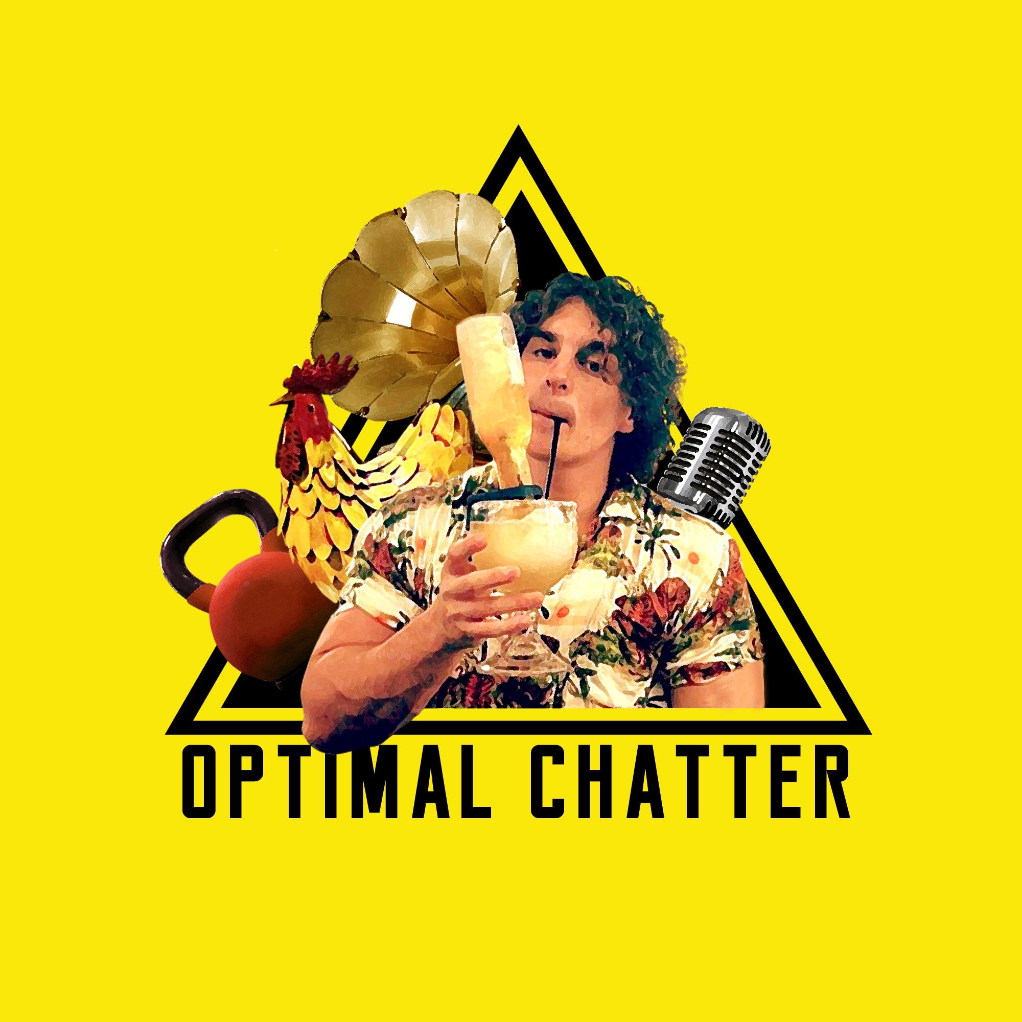 Optimal chatter - Podcast graphics contest.