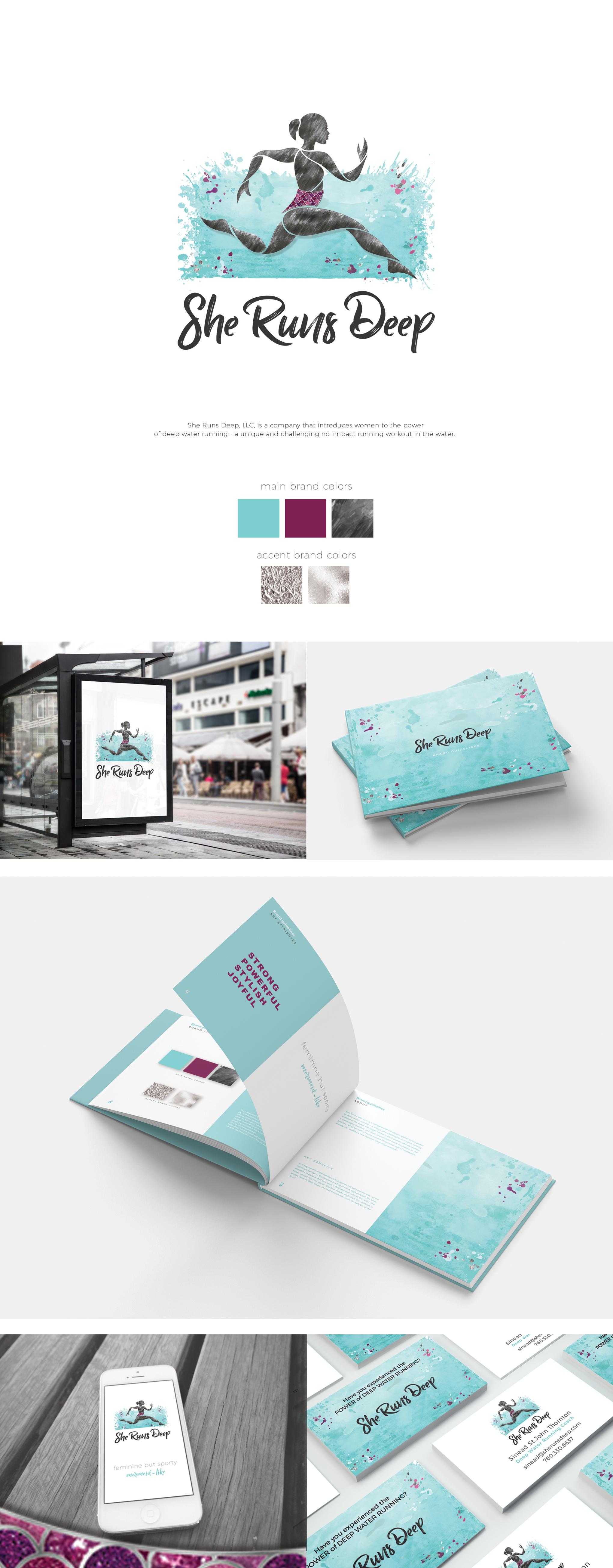 Brand Identity/Logo/BizCard for She Runs Deep