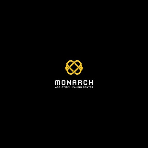 "Logo concept for ""Monarch - Addiction Healing Center"""