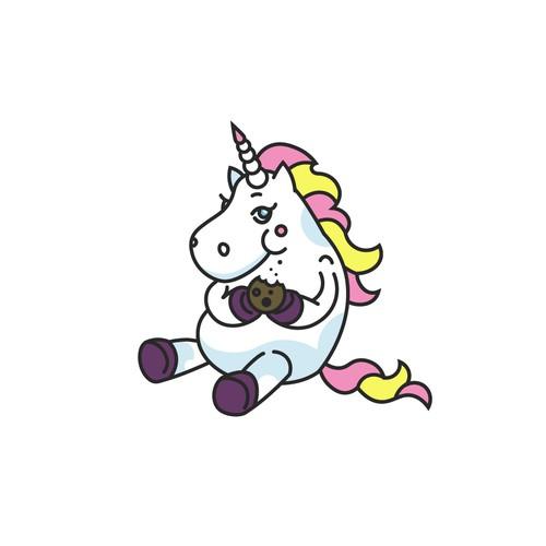 Fluffy unicorn design