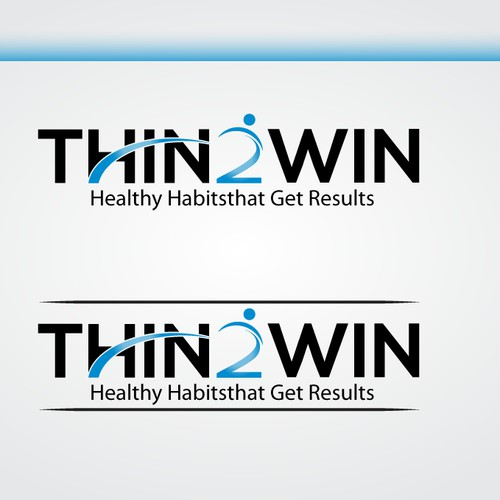 """The population is getting """"heavier"""". Thin 2 Win needs a great logo tohelp take a bite out of this preventable epidemic."""