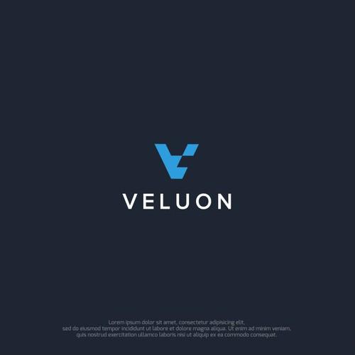 Design a logo for 'Veluon', a next generation product development company.