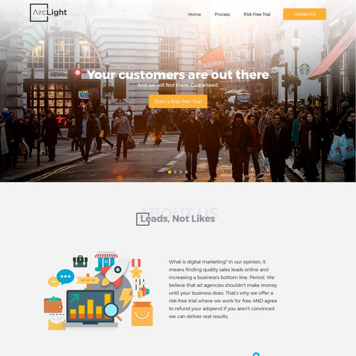 Web Page Design for Arch Light